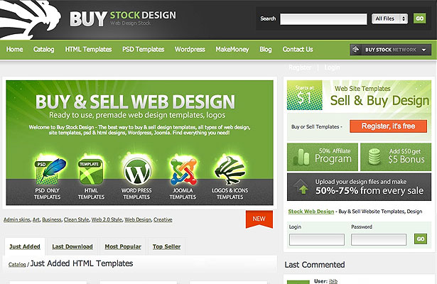10 Places to Sell Templates | Webdesigner Depot