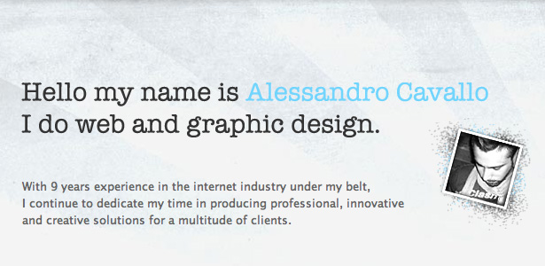 50 inspirational website introductions webdesigner depot alessandro thecheapjerseys Choice Image