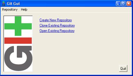 A screenshot of the Git GUI