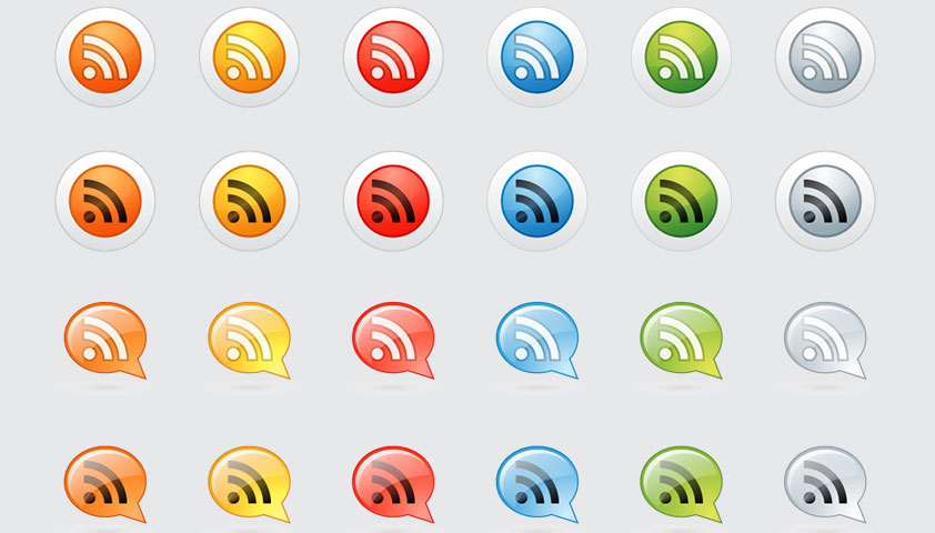"""200+ Free Exclusive RSS Icons: """"Supra"""""""
