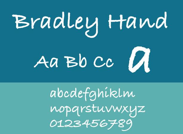 ITC Bradley Hand Font