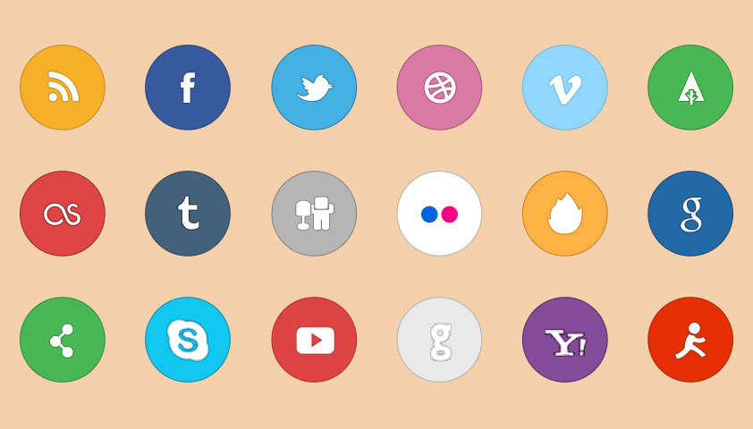 Simplito: A free social icon set