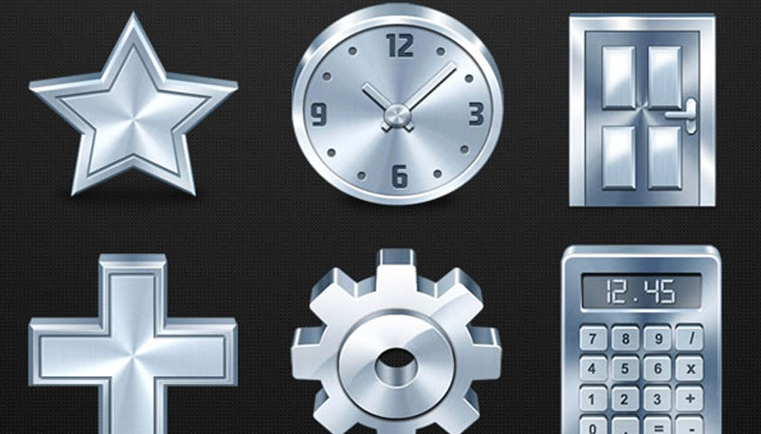 "Free ""Metallic"" icons by IconShock"