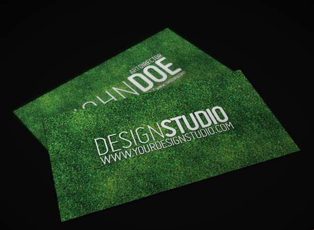25 free unique business card psds webdesigner depot i thought this was pretty unique and screams lawn care services or a green product conceptually its simple and only has three layers but i like it and colourmoves