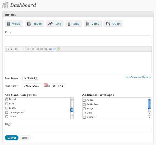 Tumblogging: WordPress vs. Tumblr - Webdesigner Depot - 웹