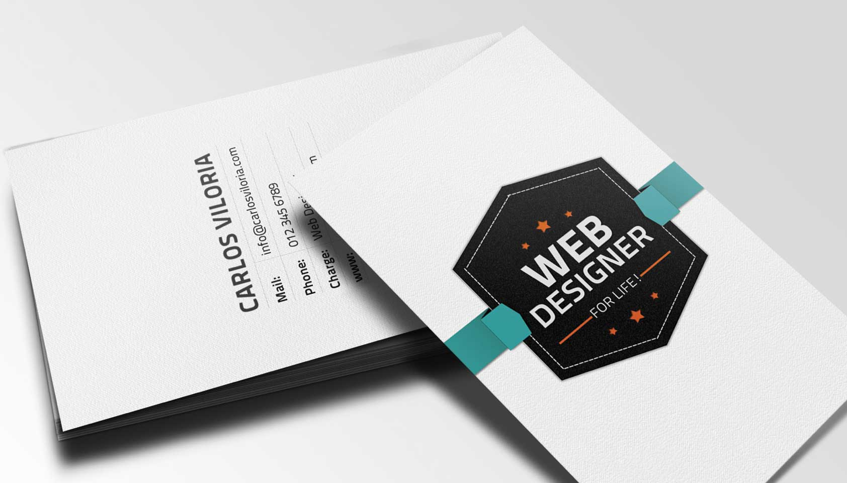 Free download retro business card psd webdesigner depot flashek