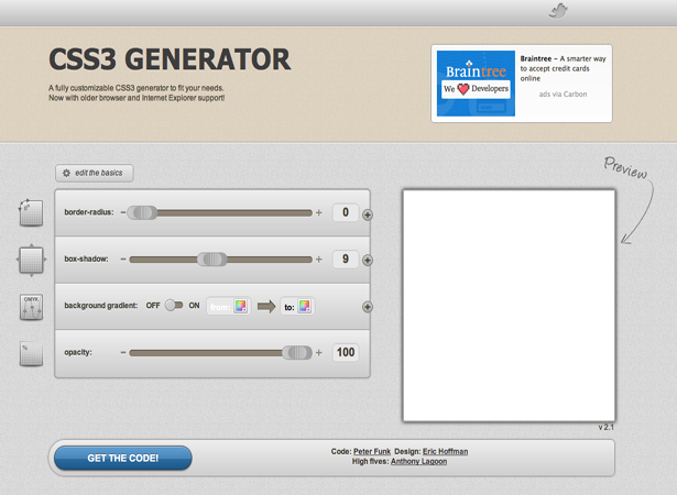 15 great HTML5 and CSS3 generators | Webdesigner Depot