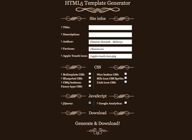 15 great html5 and css3 generators webdesigner depot switch to html5 generator malvernweather Image collections