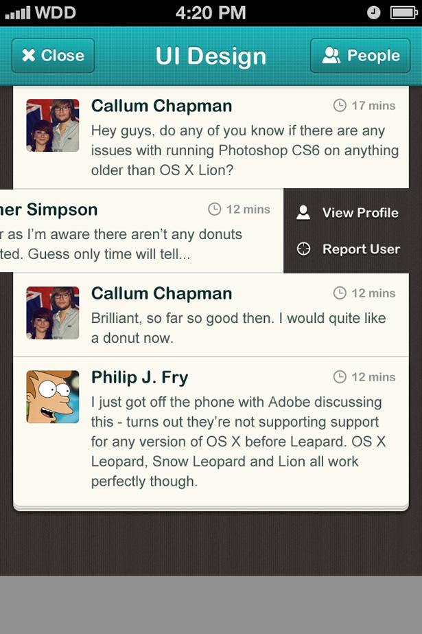 Tutorial: How to design a chatroom iPhone UI | Webdesigner Depot