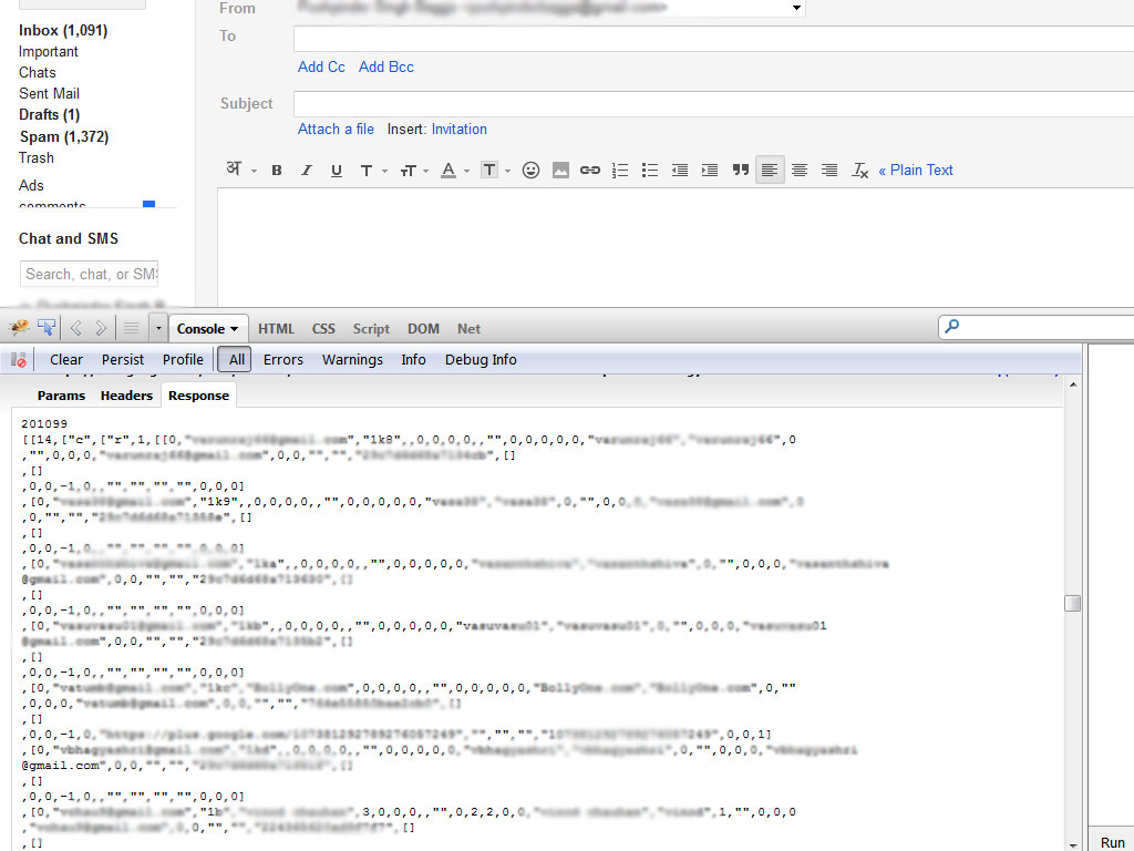 Gmail using foxycomplete with local data once the user is logged in.