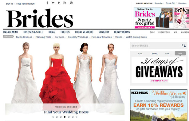 Brides website