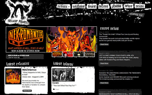 Hellcat Records website