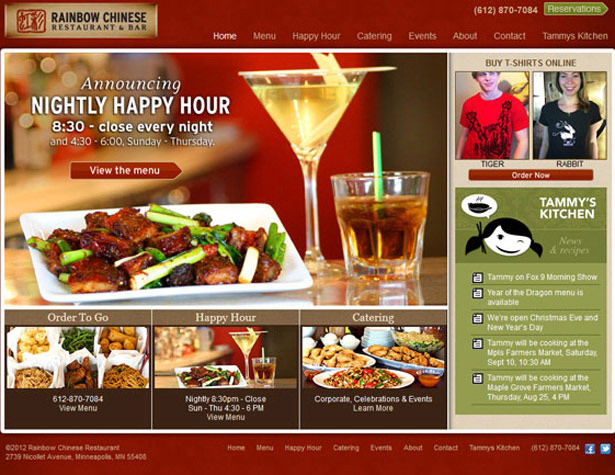 Rainbow Restaurant website