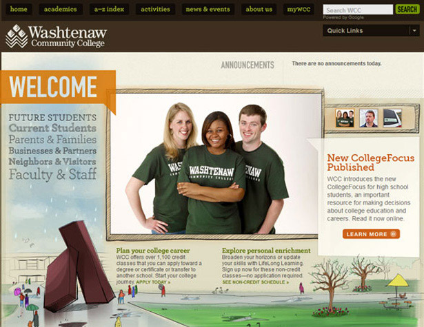 Washtenaw Community College website