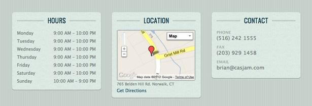 Restaurant contact info