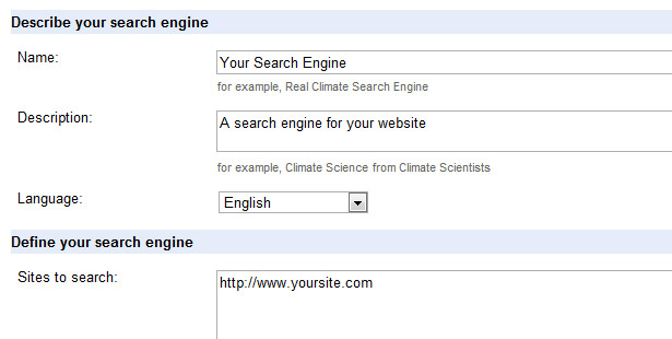 Describe your search engine