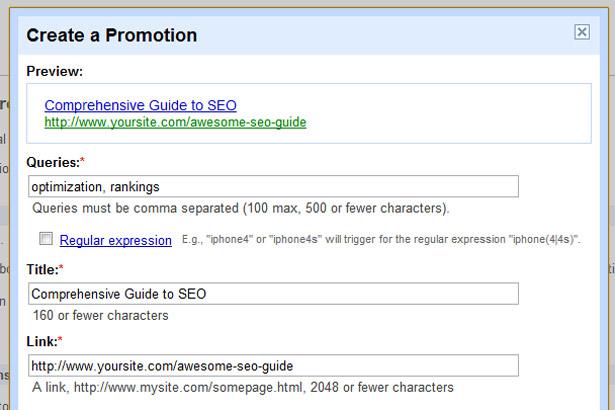 Create a promotion