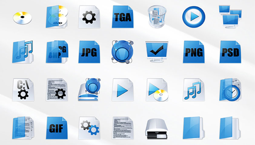 Free download: 40 Bluetron icons
