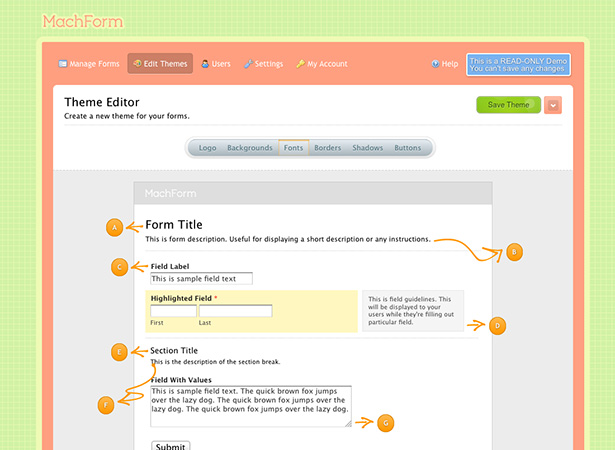 MachForm theme editor