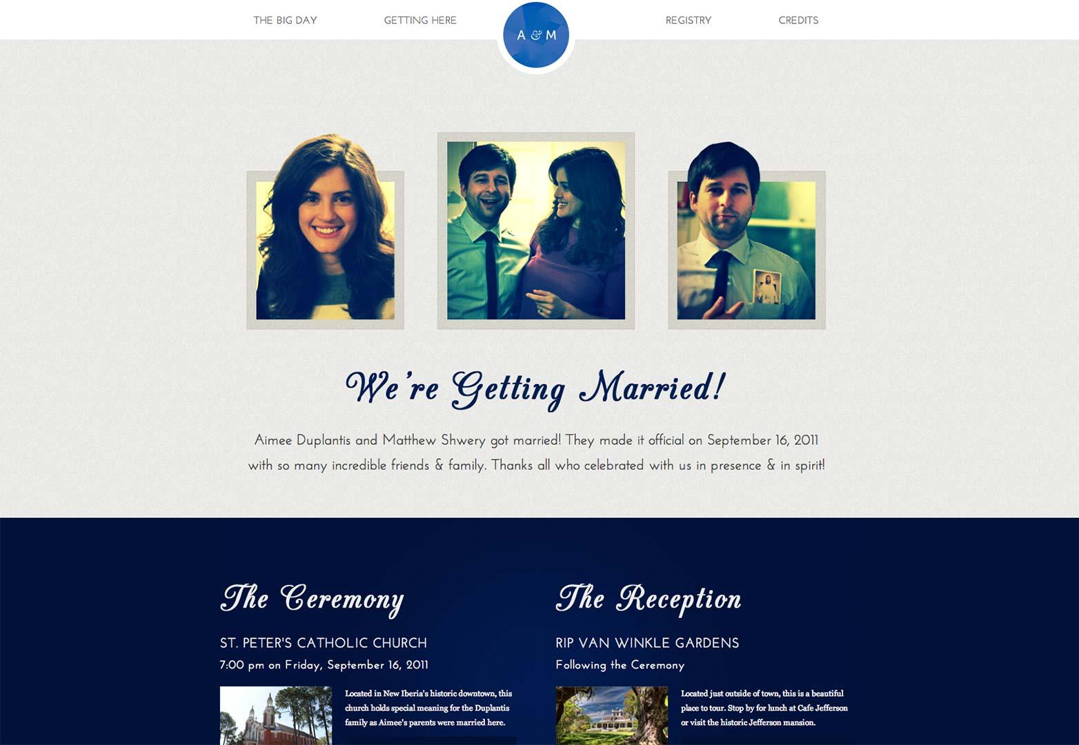 25 wonderful wedding websites webdesigner depot aimee duplantis and matthew shwery junglespirit Images