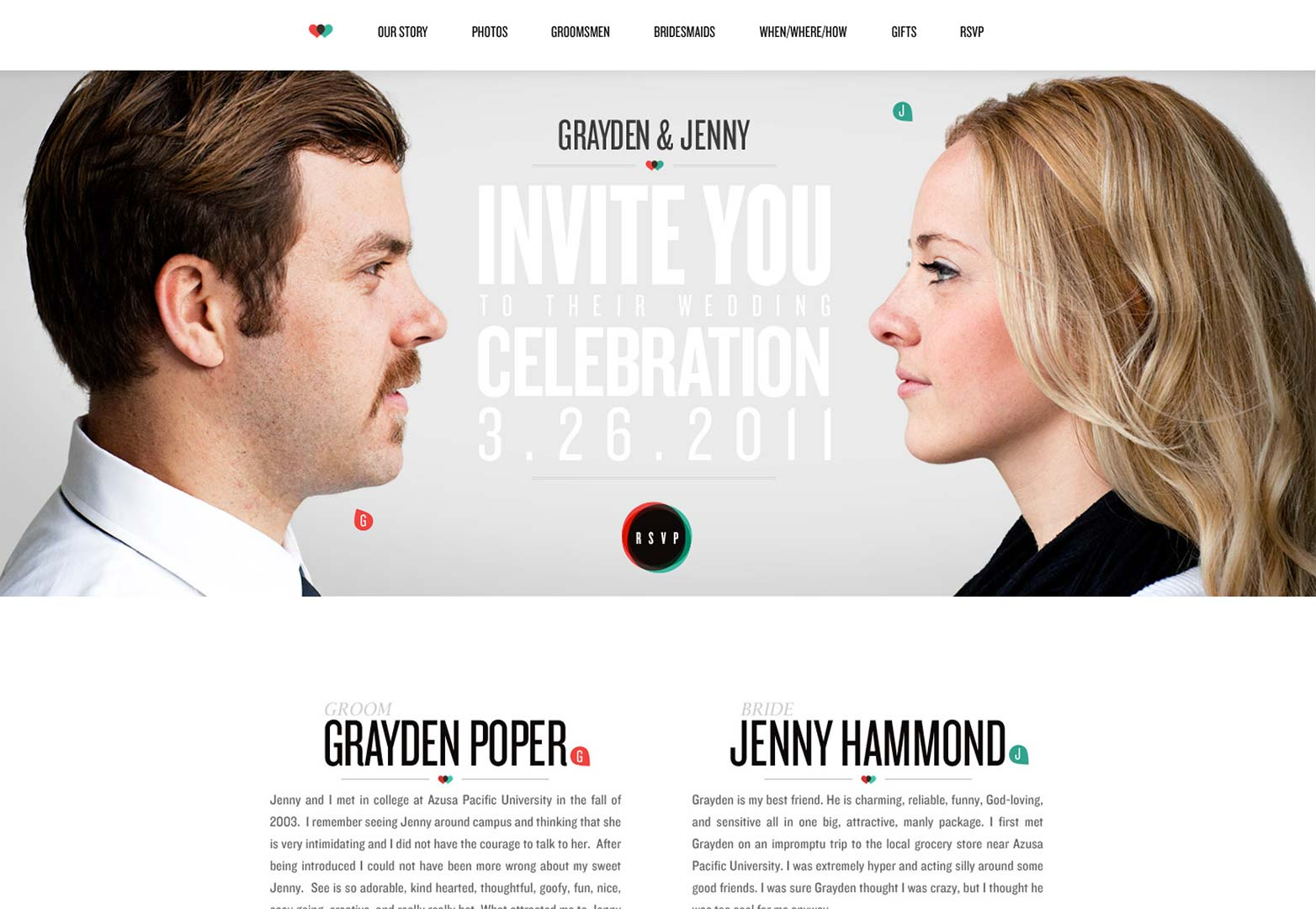 25+ Wonderful Wedding Websites