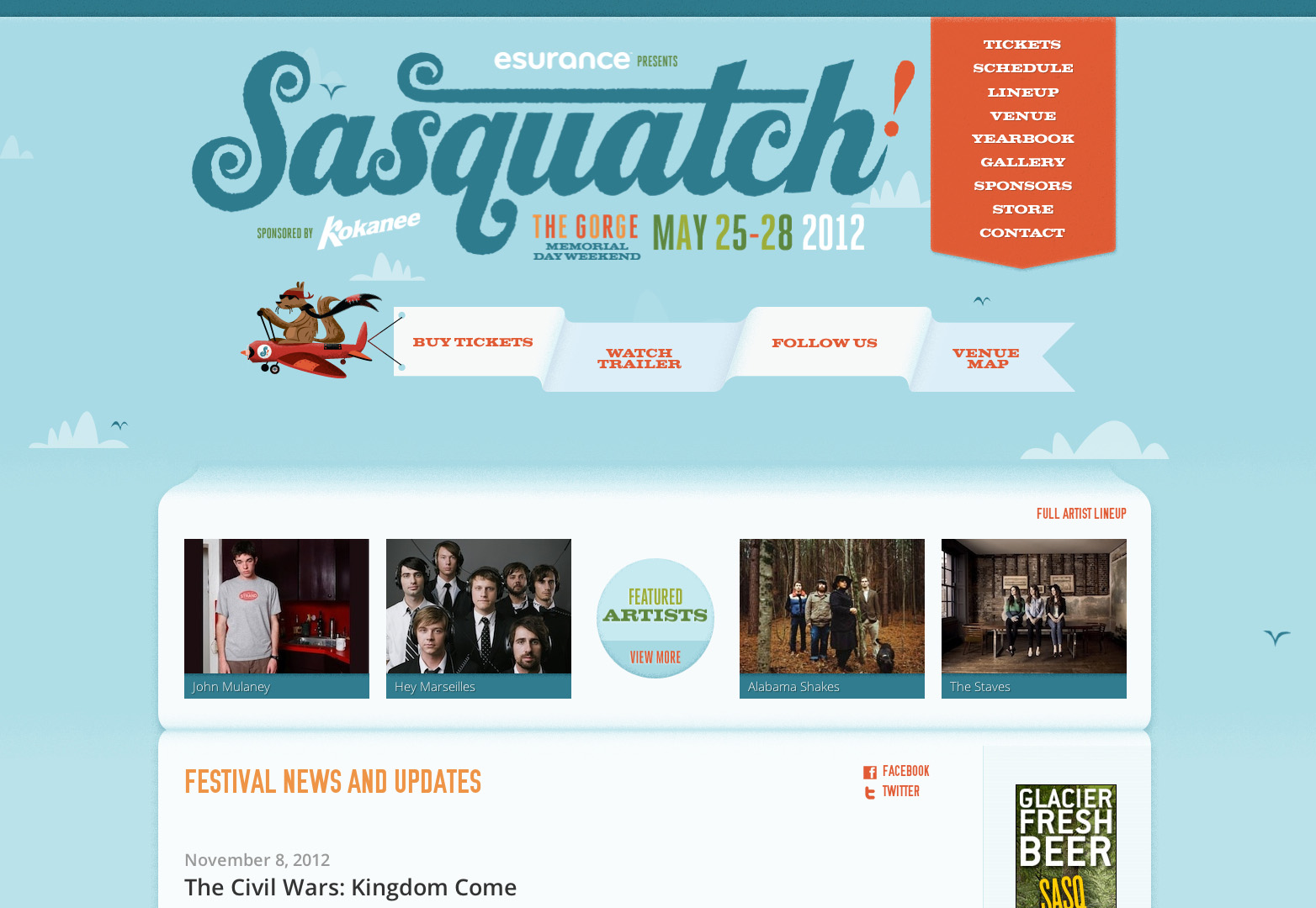 20 creative and inspiring event websites | Webdesigner Depot