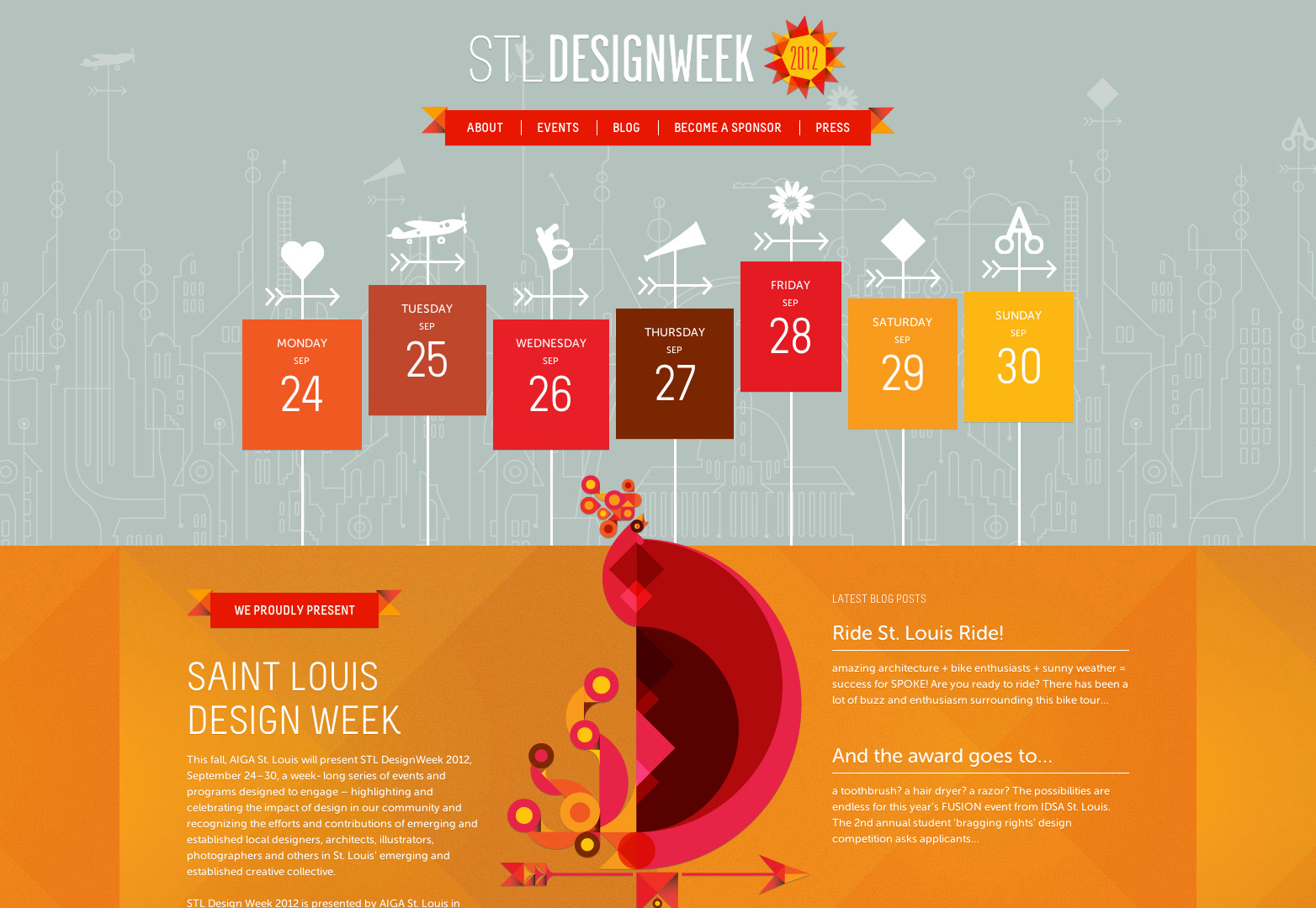 Calendar Design Poster : Creative and inspiring event websites webdesigner depot