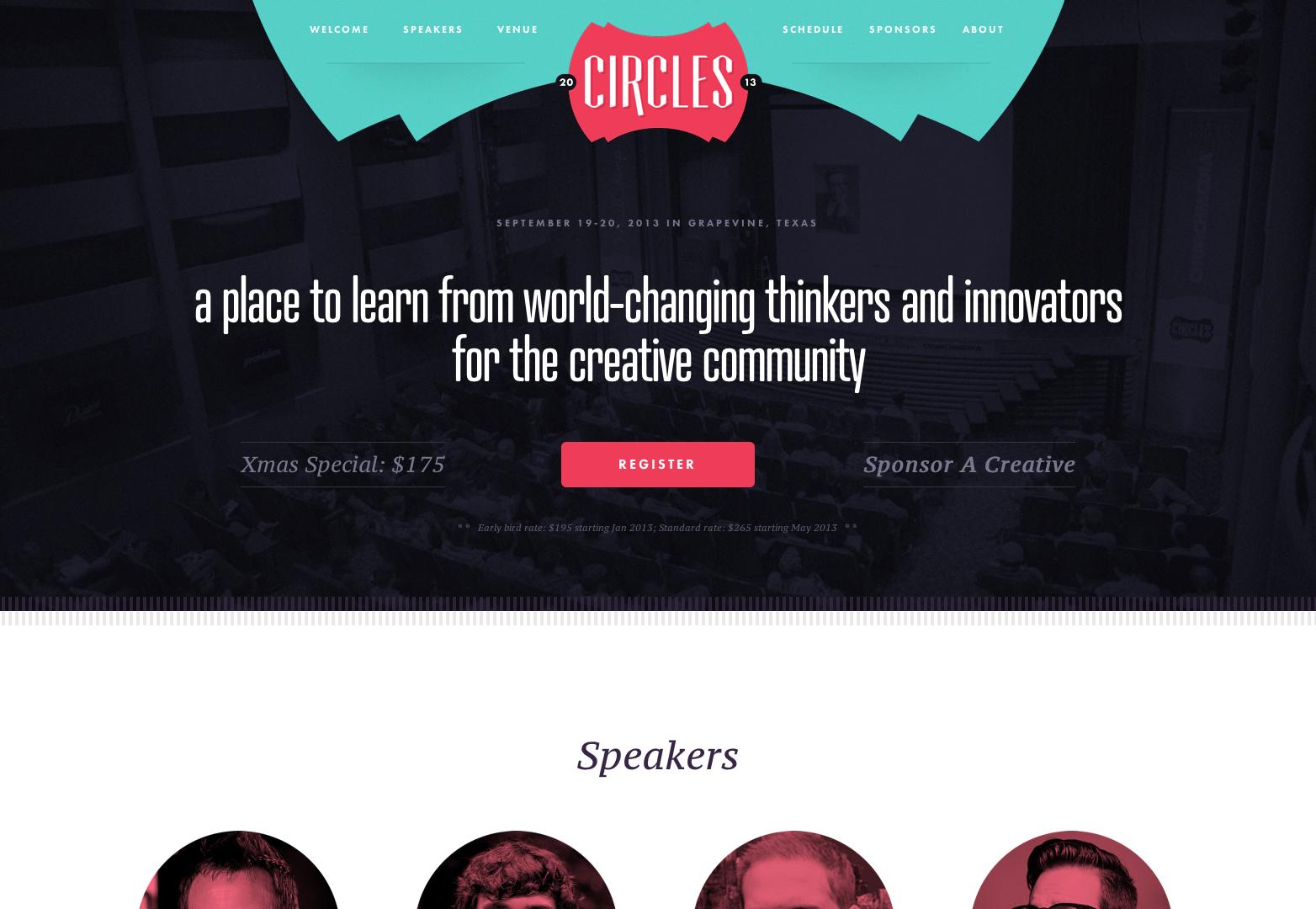 20 creative and inspiring event websites webdesigner depot