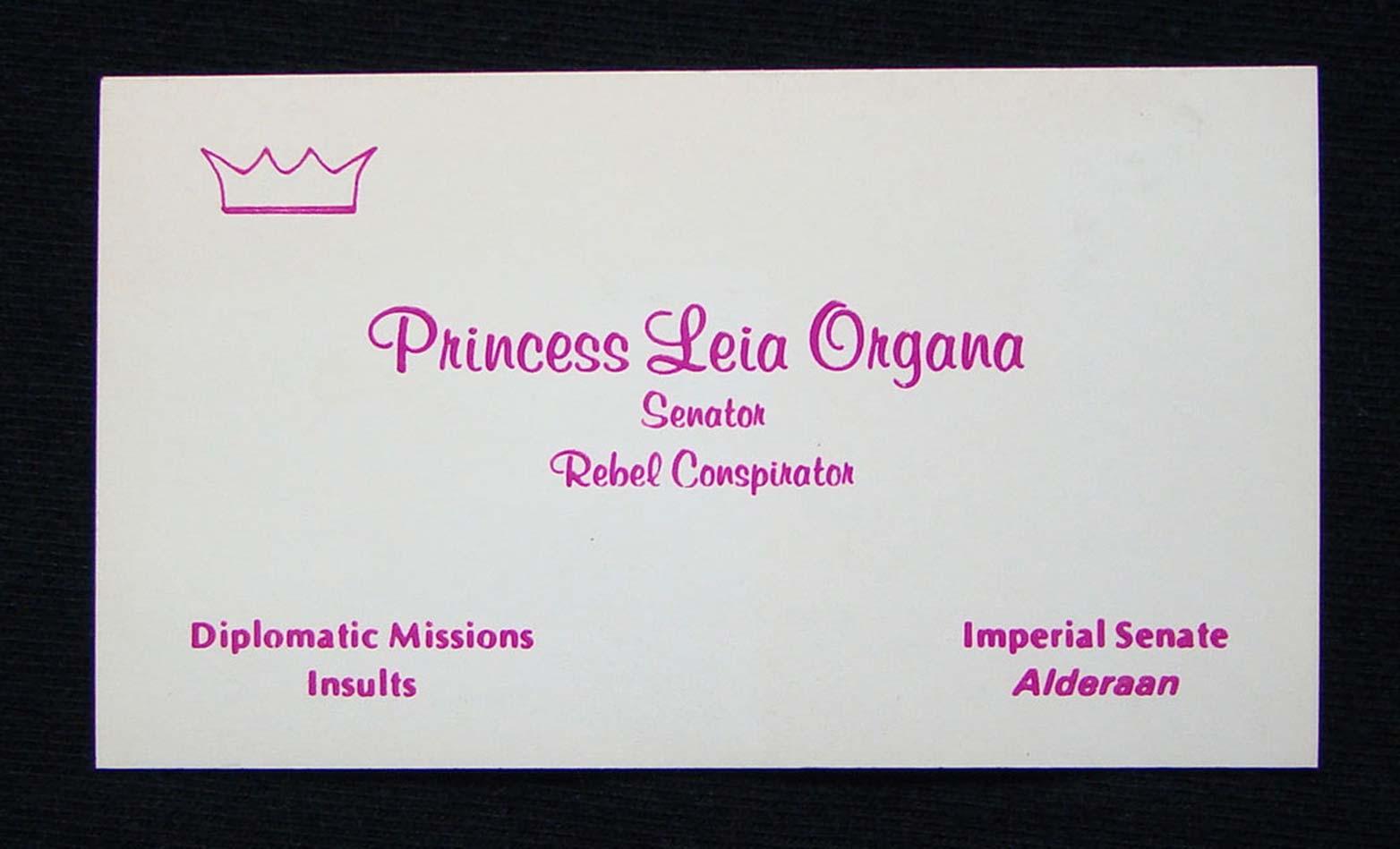 Business cards from a galaxy far, far away | Webdesigner Depot