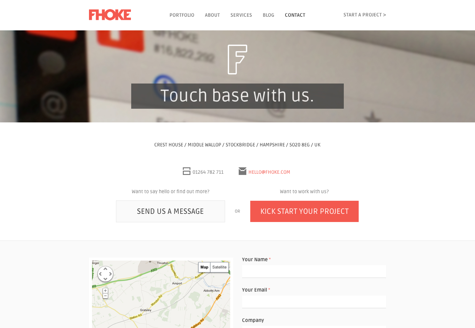 20 excellent contact pages | Webdesigner Depot
