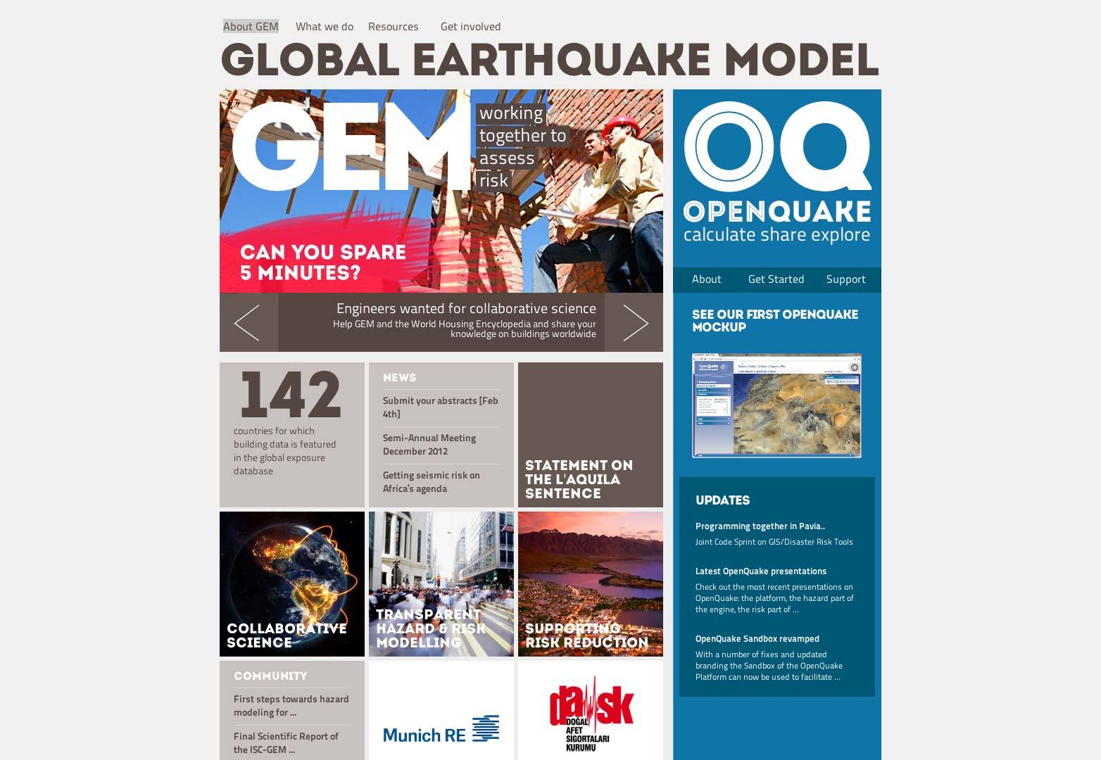 New GEM website