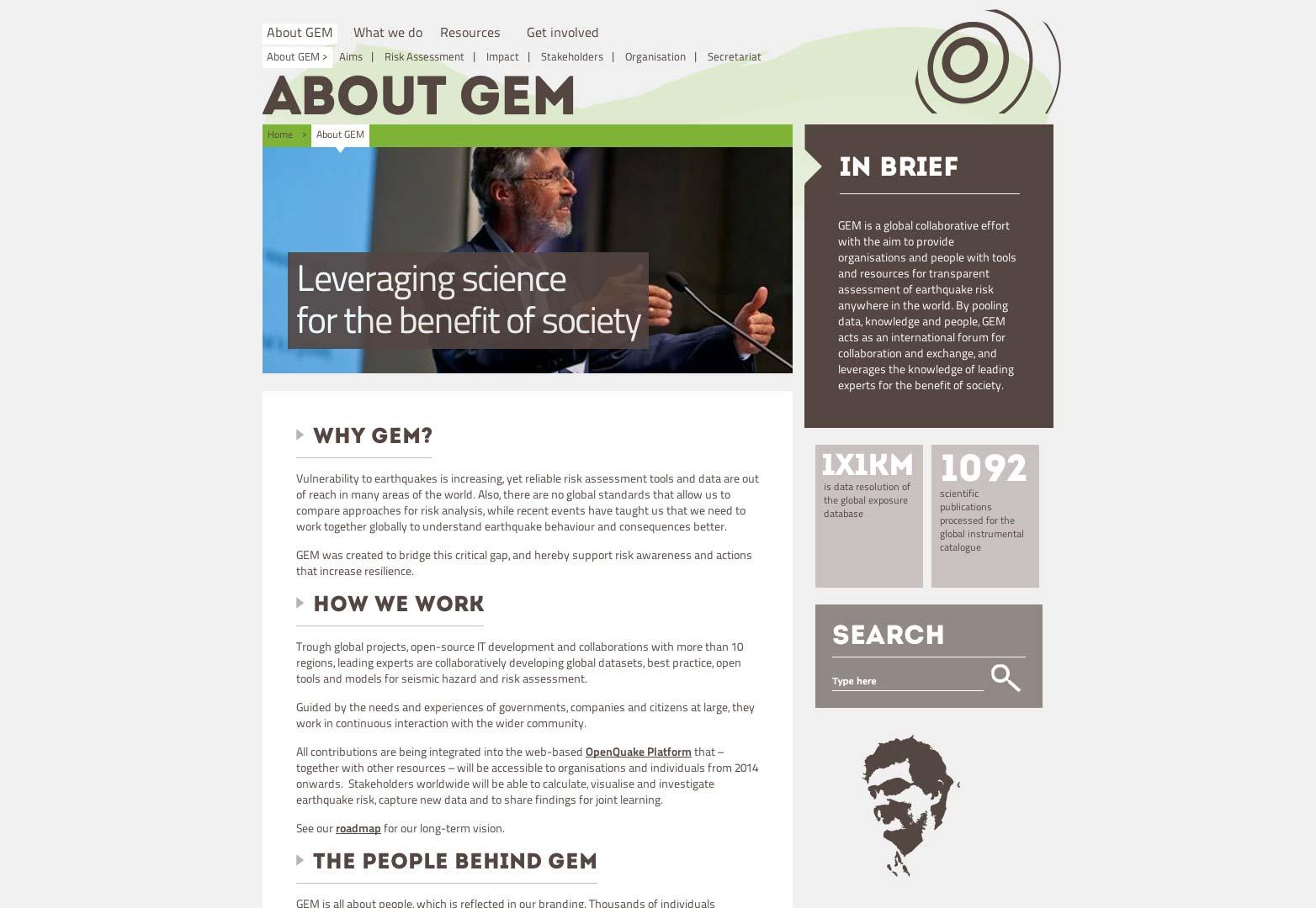 The new GEM website