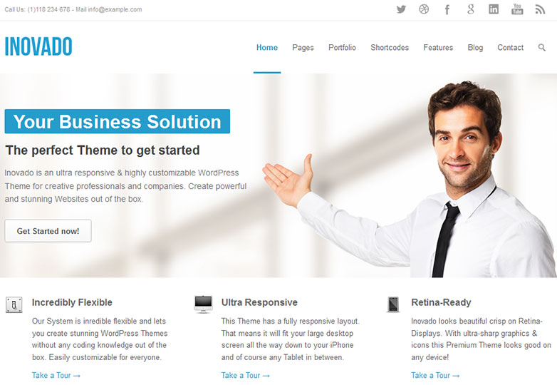 30 fresh wordpress business themes webdesigner depot pax flashek Image collections