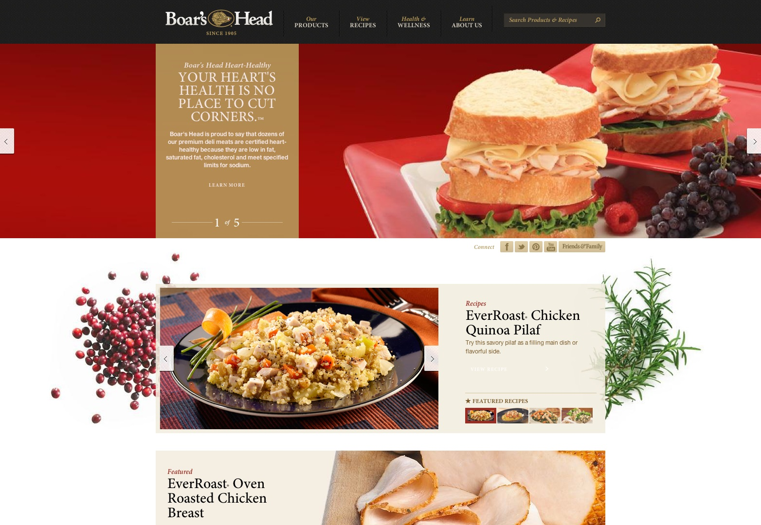Food and restaurant web designs webdesigner depot