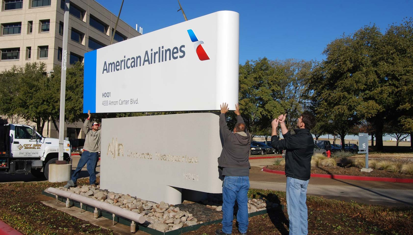 Talking about the new American Airlines logo