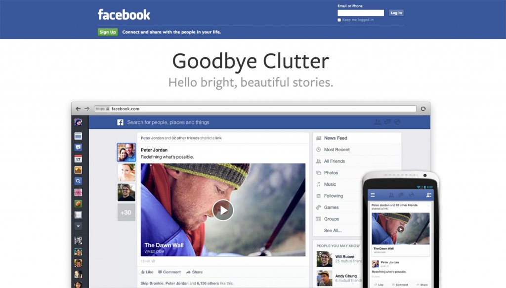 Facebook redesigns core service