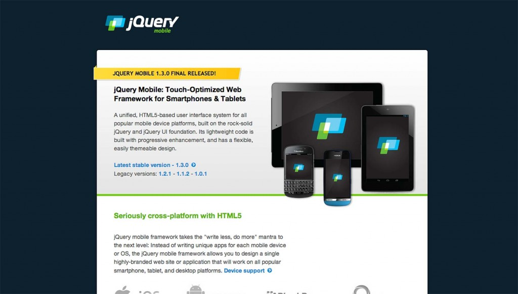 jQuery Mobile 1.3