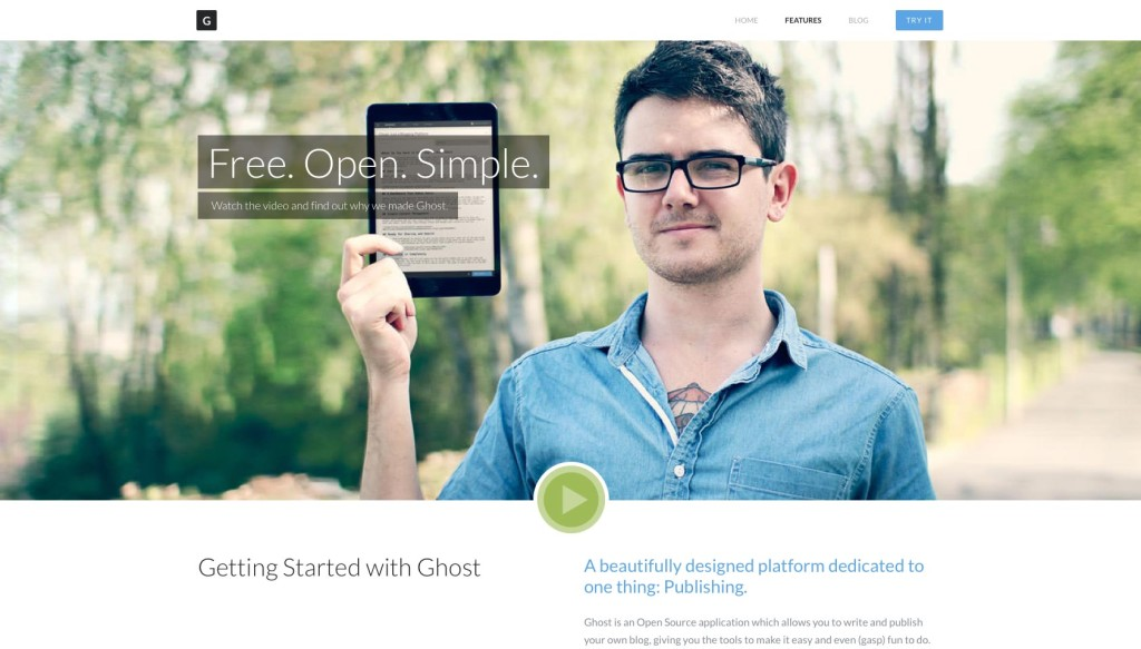 Ghost: a crowd-funded blogging platform, launching soon