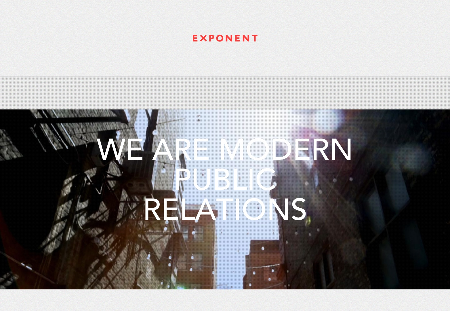 Exponent PR | We Are Modern PR