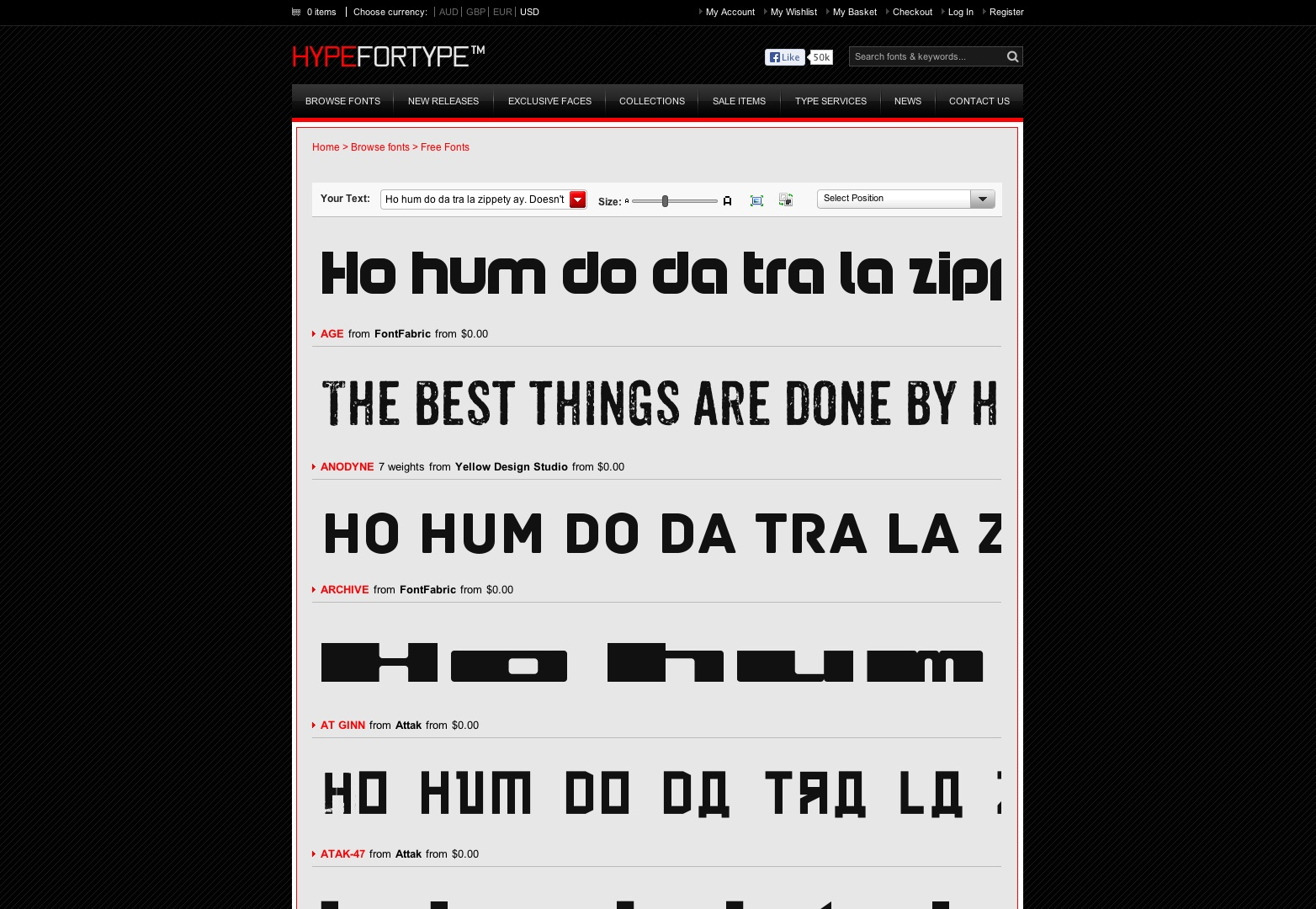 Free Fonts - Browse fonts