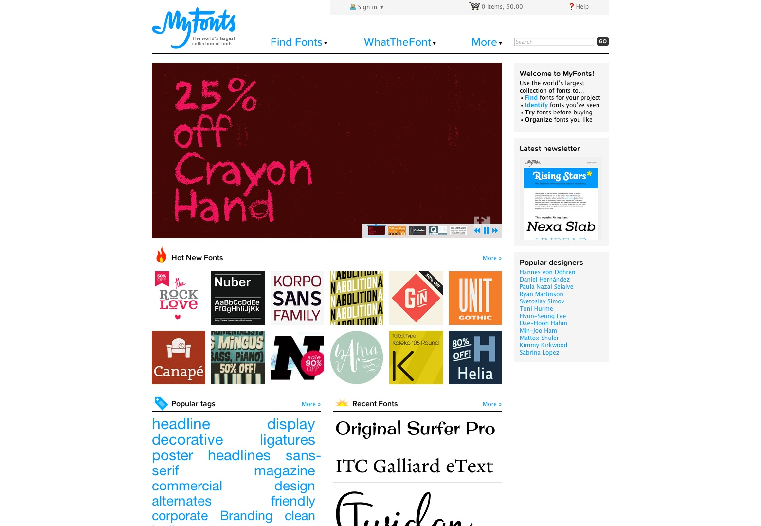 MyFonts: Webfonts & Desktop Fonts