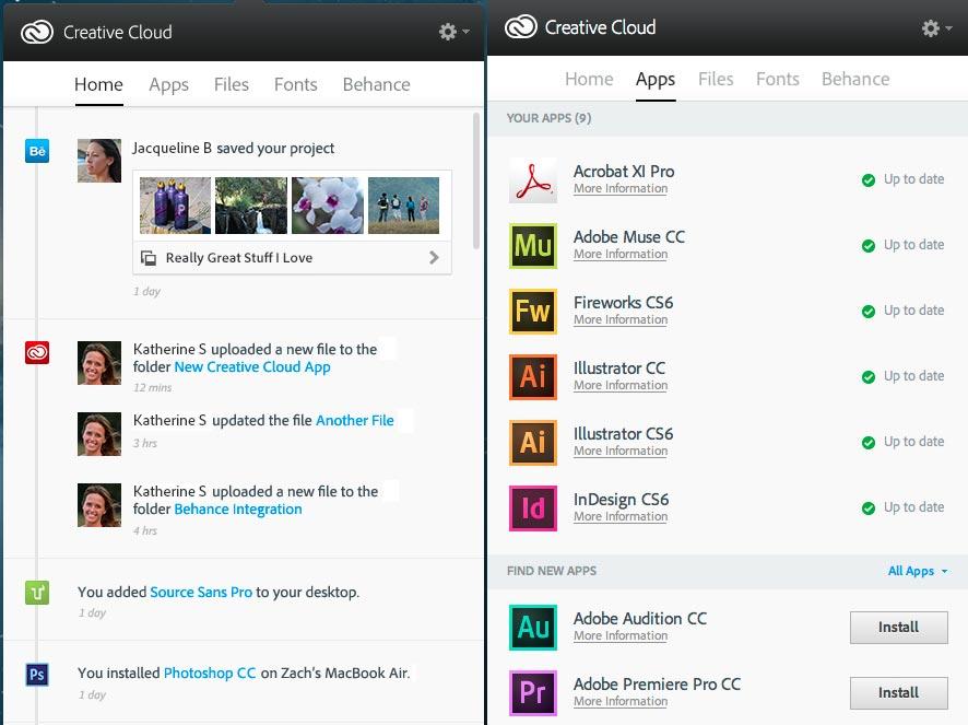 CC desktop app