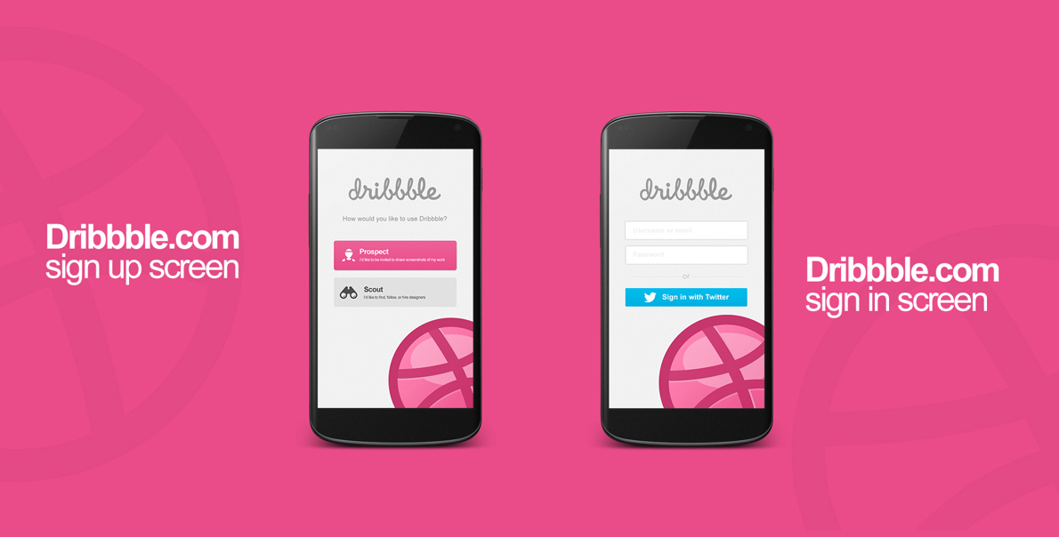 dribbble android