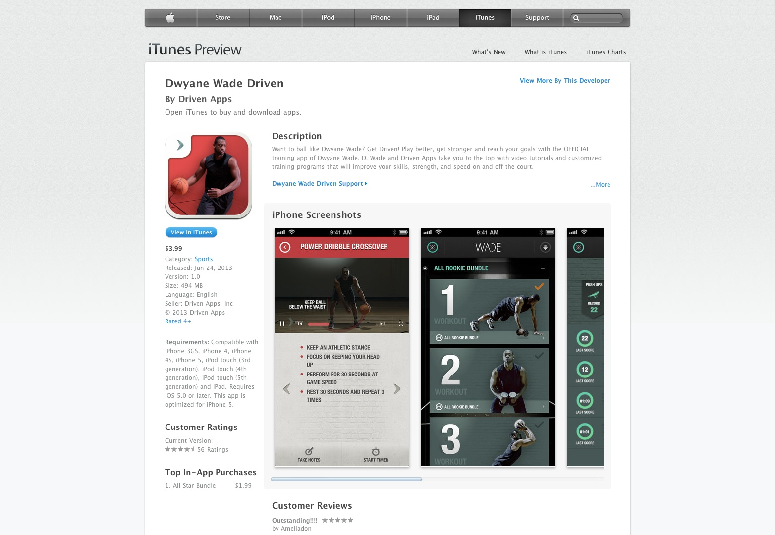 Dwyane Wade Driven for iPhone 3GS, iPhone 4, iPhone 4S, iPhone 5, iPod touch (3rd generation), iPod touch (4th generation), iPod touch (5th generation) and iPad on the iTunes App Store