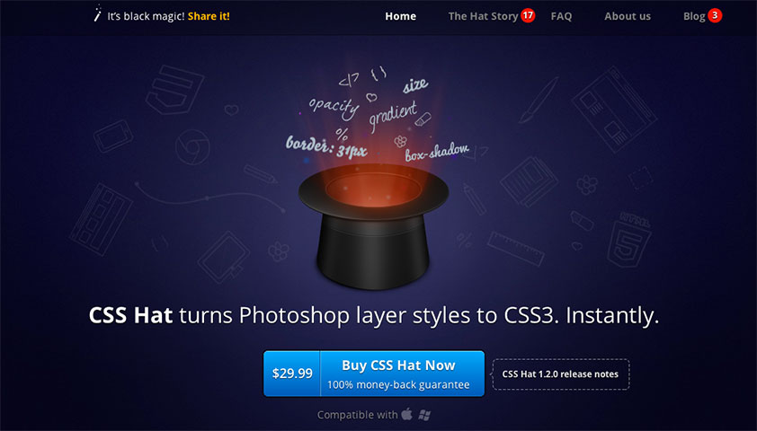 Deal of the week: CSS Hat converts PSD layers to CSS
