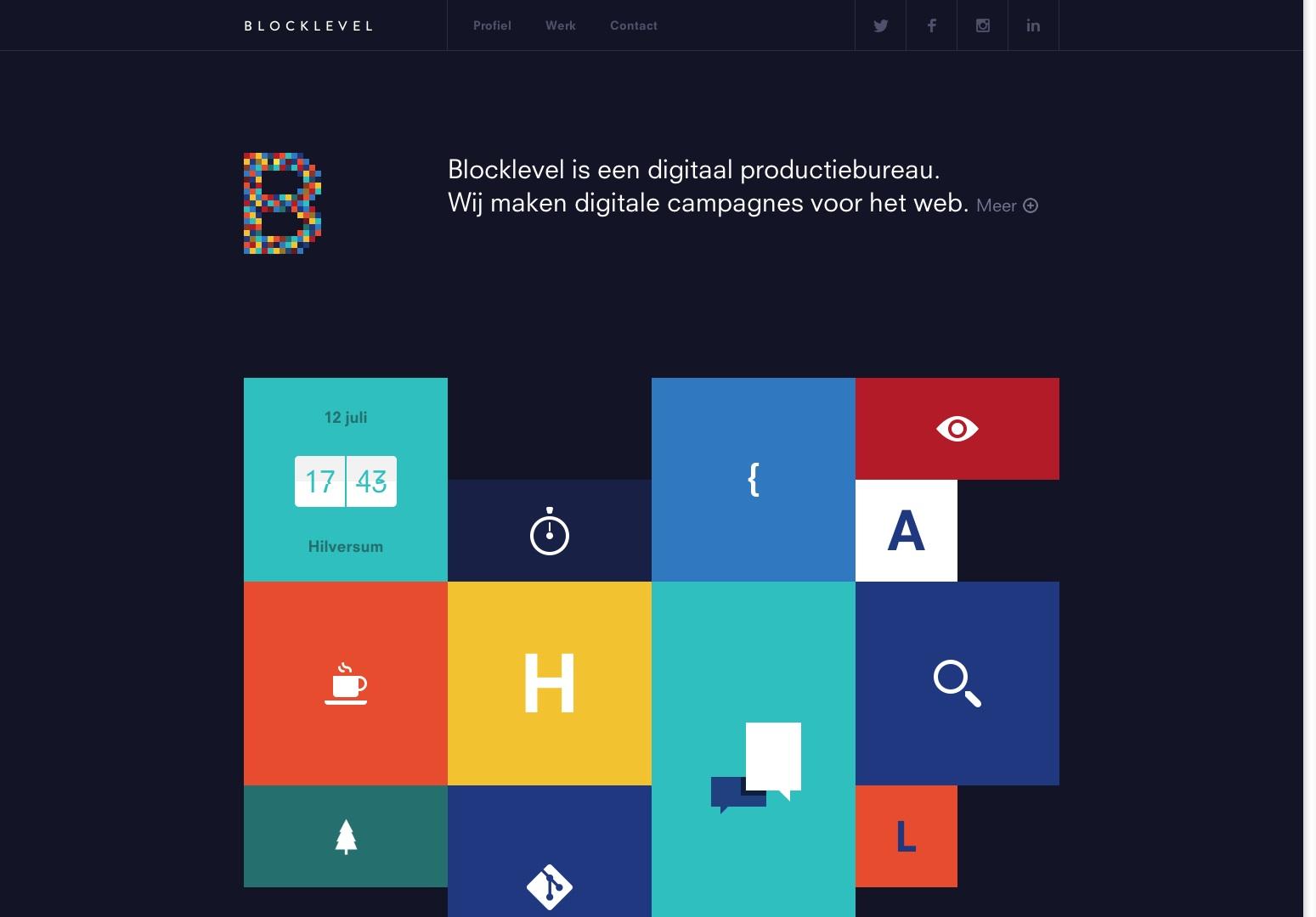 Blocklevel | Digitaal Productiebureau. Wij maken digitale campagnes voor het web.
