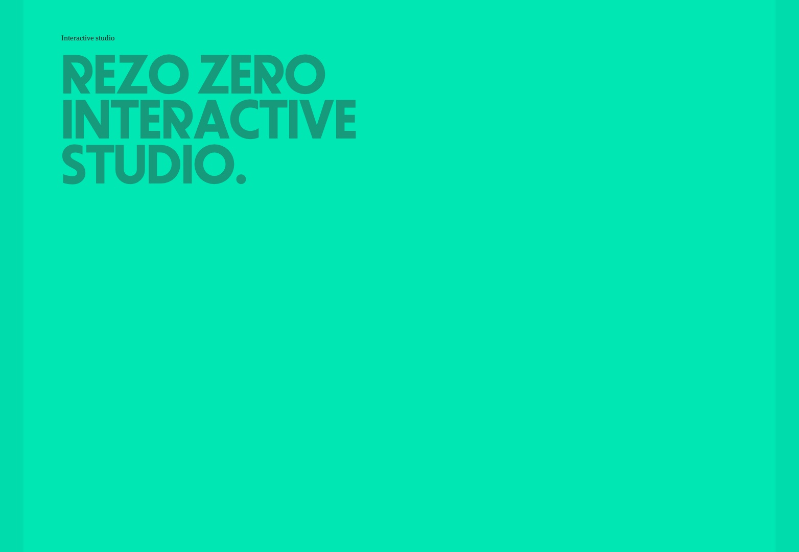 Interactive design studio | Lyon | REZO ZERO
