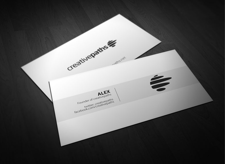 40 really creative business card templates webdesigner depot free business cards mockup free flashek Images