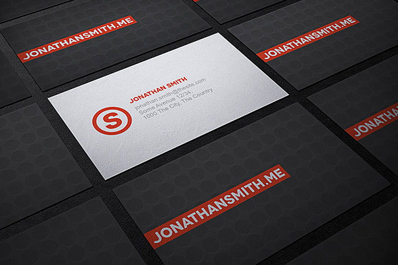 40 really creative business card templates webdesigner depot business card mockup 3 reheart Gallery