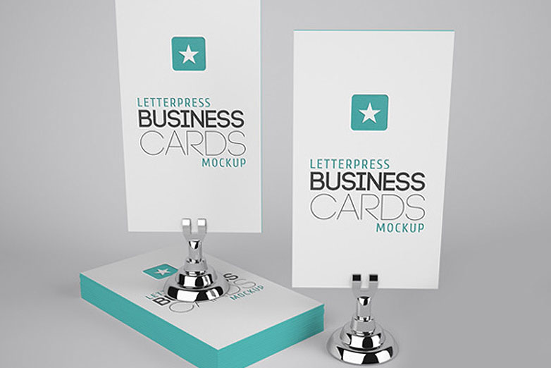 40 really creative business card templates webdesigner depot letterpress business cards mockup 4 cardmockup20 flashek Image collections